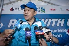 President of the Malaysian Amateur Athletic Union. Kuala Lumpur, June 26 : Datuk Seri Shahidan Kassim a president of the Malaysian Amateur Athletic Union, at the Royalty Free Stock Image