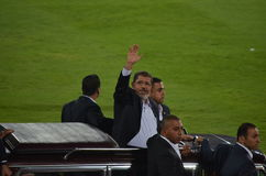 President Mohamed Morsy Waving to the public Stock Image