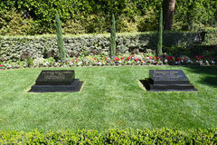 President Nixon Grave Marker. YORBA LINDA, CALIFORNIA - FEBRUARY 24, 2017: President Richard M Nixon and Patricia Ryan Nixon Grave markers. The 37th president Stock Photo
