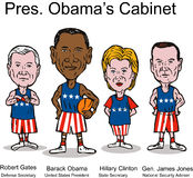President Obama's Cabinet. Vector art of US President Obama's new cabinet lineup Royalty Free Stock Photos