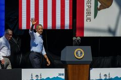 President Obama & Senator Reid at 20th Annual Lake Tahoe Summit Stock Photos