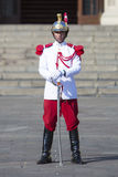 President Palace guard at work in historic center, Lima Stock Image