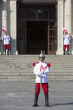 President Palace guards at work in historic center, Lima Stock Image