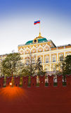 President palace in Kremlin, Moscow at sunset Royalty Free Stock Photo