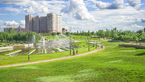 President Park in Astana, Kazakhstan. The existing President Park of Astana should see more action and life in the future. Because the soil is poor, trees grow Stock Photography