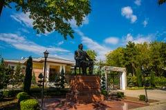 President Park Monument till Nazarbayev, president av Republiken Kazakstan Ankara Turkiet royaltyfria bilder