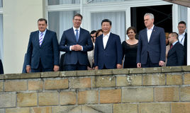 President of the People's Republic of China Xi Jinping on an official three-day visit to the Republic of Serbia. Belgrade, Serbia. 19th June, 2016 royalty free stock photography