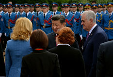 President of the People's Republic of China Xi Jinping on an official three-day visit to the Republic of Serbia. Belgrade, Serbia. 18th June, 2016 royalty free stock photos