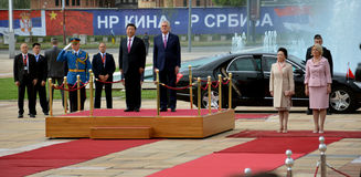 President of the People's Republic of China Xi Jinping on an official three-day visit to the Republic of Serbia Royalty Free Stock Photography