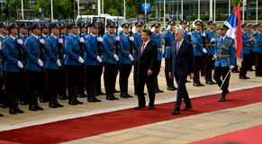 President of the People's Republic of China Xi Jinping on an official three-day visit to the Republic of Serbia Stock Images