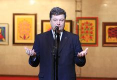 President Petr Poroshenko Stock Photo