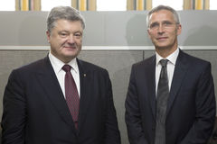 President Petro Poroshenko and NATO Secretary General Jens Stolt Royalty Free Stock Photography