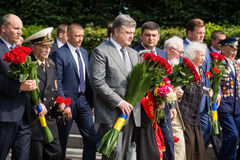 President Poroshenko honored memory of victims of war in Ukraine Royalty Free Stock Photography