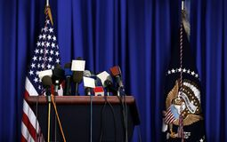 President Press Conference Stock Image