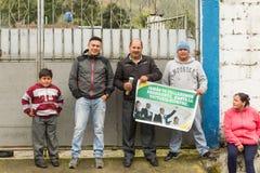 President Rafael Correa Supporters Stock Foto's
