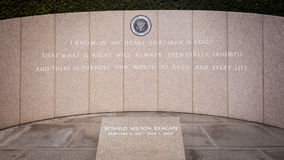 President Reagan's Final Resting Place at the Ronald Reagan Pres Royalty Free Stock Photos