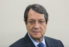 President of the Republic of Cyprus Nicos Anastasiades. ST. JULIAN`S - MALTA, 30 March 2017: President of the Republic of Cyprus Nicos Anastasiades during the Stock Photo
