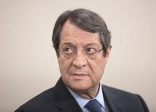 President of the Republic of Cyprus Nicos Anastasiades. ST. JULIAN`S - MALTA, 30 March 2017: President of the Republic of Cyprus Nicos Anastasiades during the Stock Image
