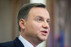 President of the Republic of Poland Andrzej Duda Stock Images