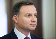 President of the Republic of Poland Andrzej Duda. KIEV, UKRAINE - Dec 15, 2015: President of the Republic of Poland Andrzej Duda during his official visit to royalty free stock photography