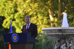 President of Romania Klaus Iohannis Stock Images