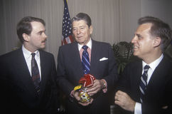 President Ronald Reagan. Receives gift of Jelly Belly jelly beans Stock Image