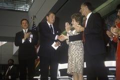 President Ronald Reagan and  Mrs. Reagan Stock Images