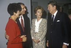 President Ronald Reagan and  Mrs. Reagan. President Ronald Reagan, Mrs. Reagan, California governor George Deukmejian and wife Royalty Free Stock Photography