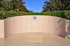 President Ronald Reagan's grave Stock Photography