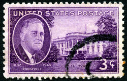 President Roosevelt Postage Stamp Stock Photo
