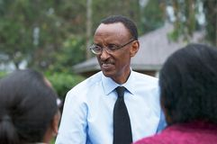 The President of the Rwanda Paul Kagame Stock Image