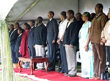 The President of Rwanda Paul Kagame Royalty Free Stock Images