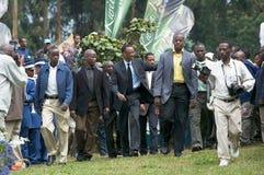 The President of Rwanda Paul Kagame Stock Photo