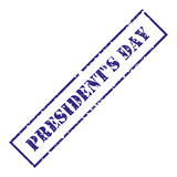 President`s Day. Blue stamp with grunge. Vector illustration. President`s  Day. Blue stamp with grunge. Vector illustration Royalty Free Stock Photos