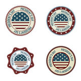 President's day labels Royalty Free Stock Image