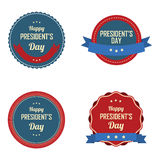 President's day labels Royalty Free Stock Photos