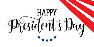 President`s Day in USA Background. graphic design for decoration posters, cards, gift cards. Happy President`s Day hand lettering, american holiday design Stock Photos