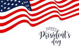 President`s Day in USA Background. graphic design for decoration posters, cards, gift cards. Happy President`s Day hand lettering, american holiday design Royalty Free Stock Photo