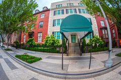 The Blair House on Washington DC, USA stock images