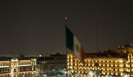 President's Palace Mexico City at Night Royalty Free Stock Images