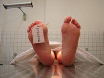 President´s Tod (Todeskarosserie in der Leichenhalle) Stockbild