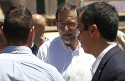 The president of Spain Mariano Rajoy. Royalty Free Stock Image