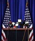 President Speech Podium Stock Afbeelding