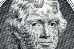 President Thomas Jefferson close-up portrait Stock Photo