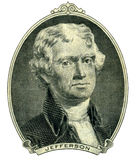 President Thomas Jefferson portrait Royalty Free Stock Photography