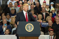 President Trump. Louisville, Kentucky – March 20, 2017: President Donald J. Trump addresses a crowd at a rally inside Freedom Hall in Louisville, Kentucky, on Stock Photo