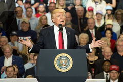President Trump. Louisville, Kentucky – March 20, 2017: President Donald J. Trump addresses a crowd at a rally inside Freedom Hall in Louisville, Kentucky, on Stock Photos