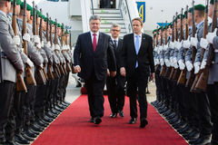 President of Ukraine during his visit to Berlin Royalty Free Stock Photo