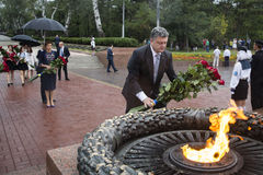 President of Ukraine Petro Poroshenko during the celebration of Stock Photos