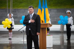President of Ukraine Petro Poroshenko during the celebration of Royalty Free Stock Photography